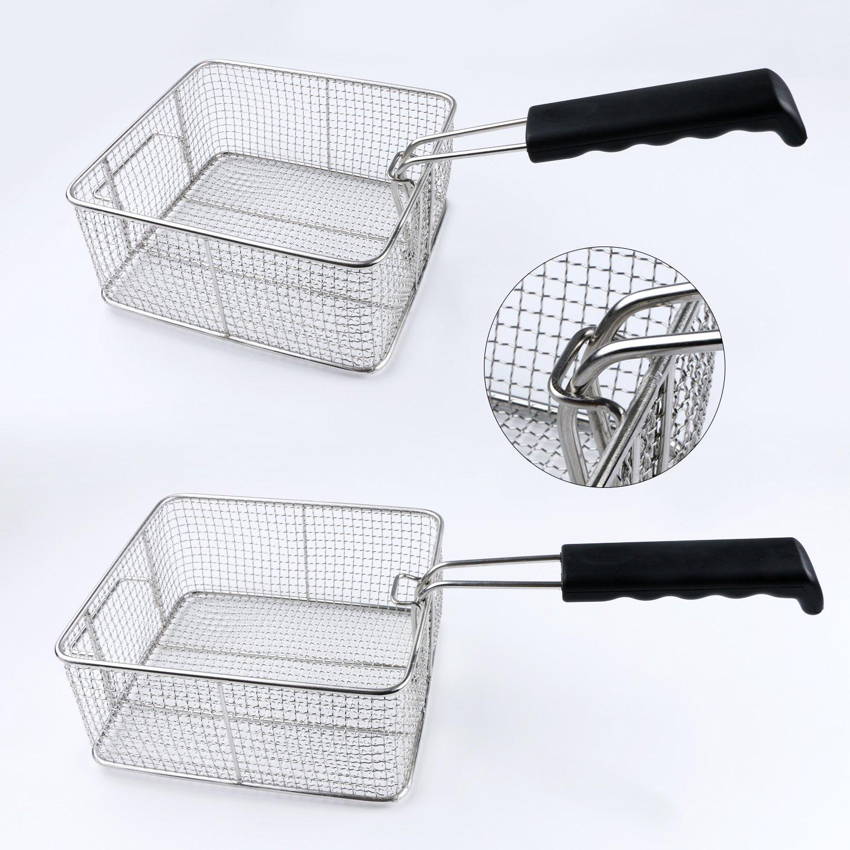 Kitchen Basket Amazoncom Fry Basket Stainless Steel Steam Rinse Strainer