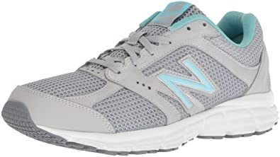 0c1413a87c0d2 New Balance Women's 460v2 Cushioning Running Shoe, Silver/Blue, 8.5 D US