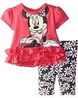 Disney Baby Girls' Minnie Mouse Flower Legging Set With Peplum Top
