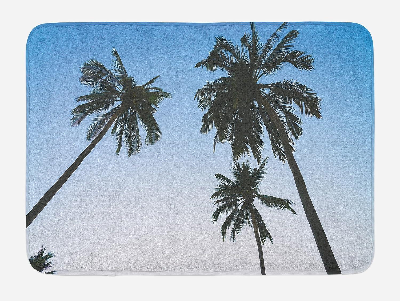 Tropical Plant Coconut Tree Beach Island Non-slip Bathroom Bedroom Soft Mat Rugs