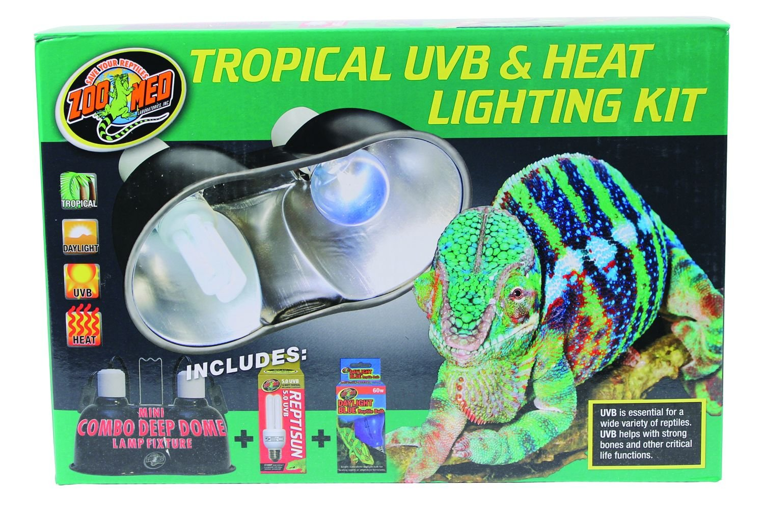 Zoo Med Tropical UVB and Heat Lighting Kit 976679