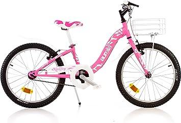 """Bici Dino 20"""" Bambina 8-10 anni Bicicletta Bimba con Cestino e"""