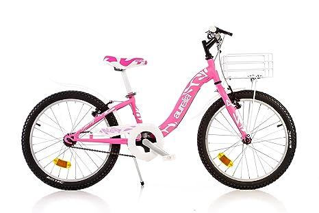 Bici Dino 20 Bambina 8 10 Anni Bicicletta Bimba Con Cestino E Portapacchi