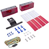Wellmax 12V LED Trailer Light Kit | Utility bulbs for easy travel assembly | Attachable tail lights for: RV, marine, boat, trailer, camper + Low Profile Submersible and waterproof | DOT compliant