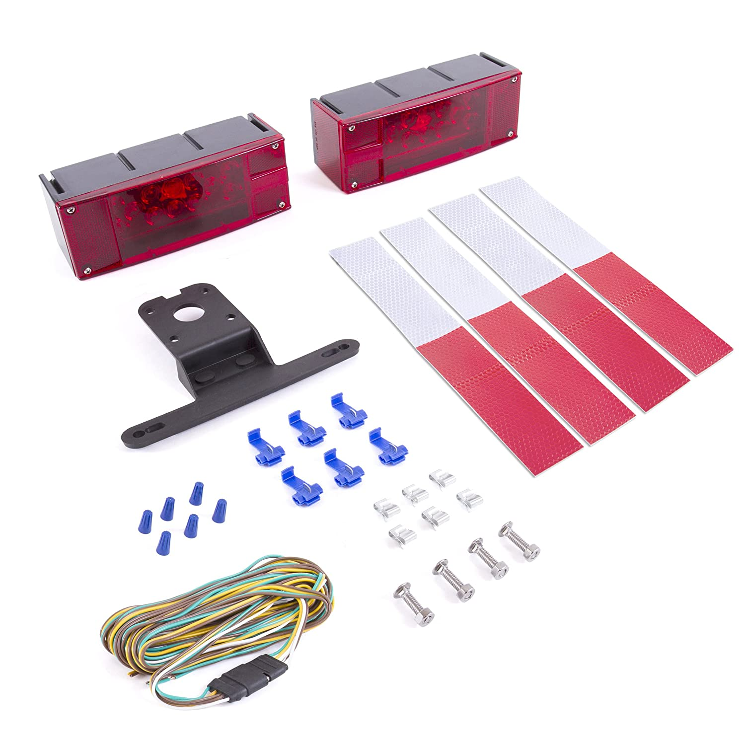 Wellmax 12v Led Trailer Light Kit Utility Bulbs For Wiring Easy Travel Assembly Attachable Tail Lights Rv Marine Boat Camper Low