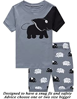 Dolphin&Fish Boys Pajamas Shark Little Kids Pjs Sets 100% Cotton Toddler Sleepwears Children Clothes