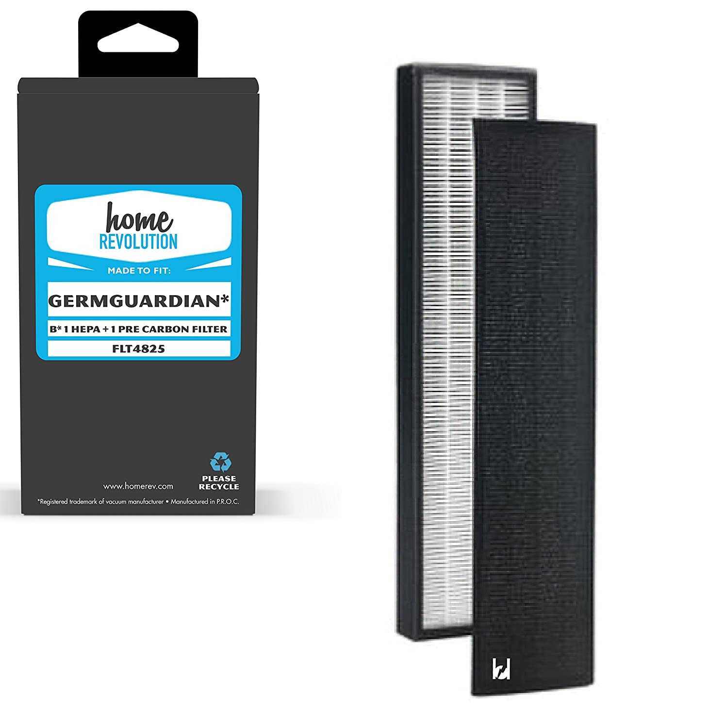 AC4800 Home Revolution Replacement HEPA and Carbon Filter Compare to Part #FLT4825 4900 Models Fits GermGuardian B Series AC4300