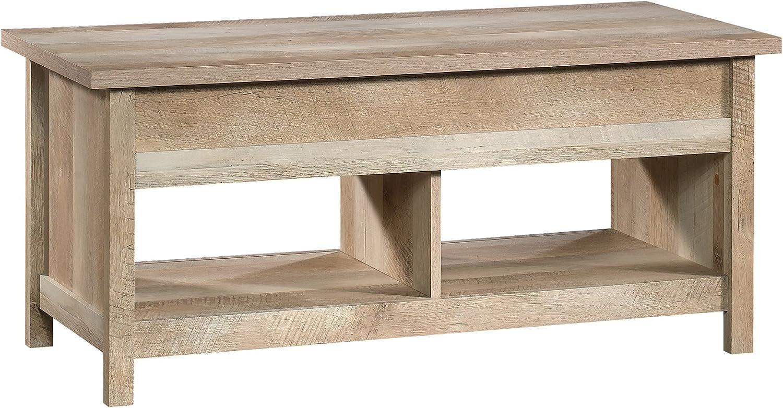 "Sauder 420336 Cannery Bridge Lift Top Coffee Table, L: 43.15"" x W: 19.45"" x H: 19.02"", Lintel Oak finish"