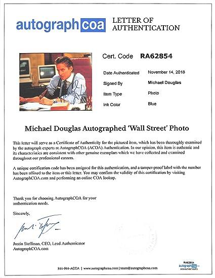 Michael Douglas Autographed Signed 11x14 Photo Wall Street