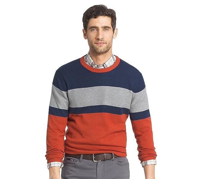 Choose SZ//Color Regular /& Slim Fit IZOD Men/'s Fine Gauge Crew Sweater
