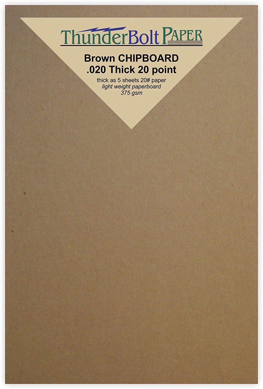 100 Sheets Chipboard 20pt (point) 4 X 6 Inches Light Weight Photo|Card Size .020 Caliper Thick Cardboard Craft and Packing Brown Kraft Paper Board TBP 4336978346