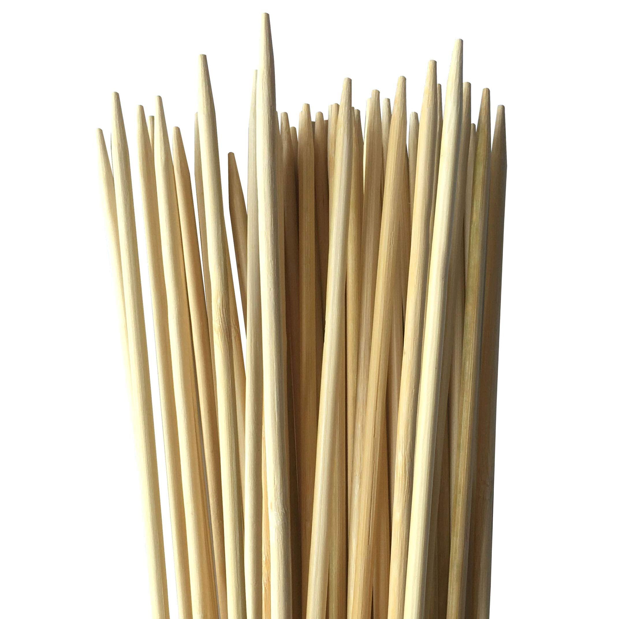 Bamboo Marshmallow Roasting Sticks 36 Inch 6mm Extra Thick Extra Long Heavy Duty Wooden Skewers, 110 Pieces. Great for S'mores Hot Dog Kebab Sausage, Environmentally Safe 100% Biodegradable by NZ Rebadulla