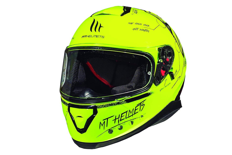 MT Thunder 3/Helmet SV on board yellow Fluor XL white