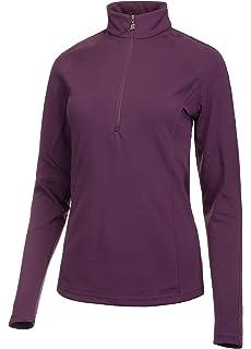 220f506a4f53 Medico Damen Ski Shirt Langarm Stehkragen mit Reißverschluss 90% Polyester  10% Elastan