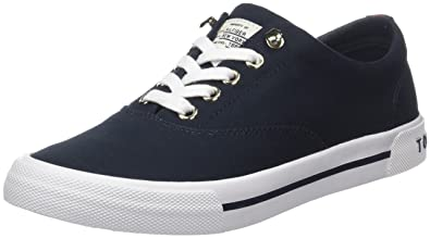 Tommy Hilfiger Damen Textile Light Weight Slip on Sneaker, Blau (Midnight 403), 42 EU