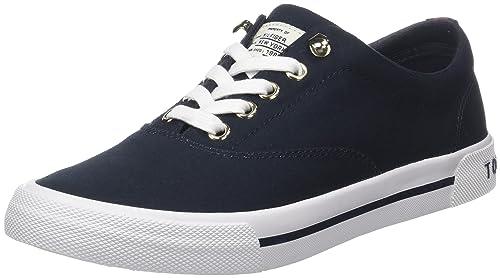 d64e50a06 Tommy Hilfiger Women s Heritage Textile Sneaker Low-Top  Amazon.co ...
