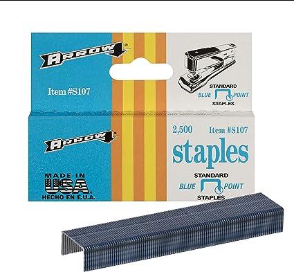 Amazon Com Arrow S107 Blue Standard Desk Staples 2 500 Pack Home Improvement