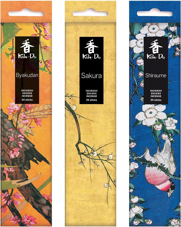 incienso japones (Ciruelo, Sakura (Cerezo), Sándalo Blanco