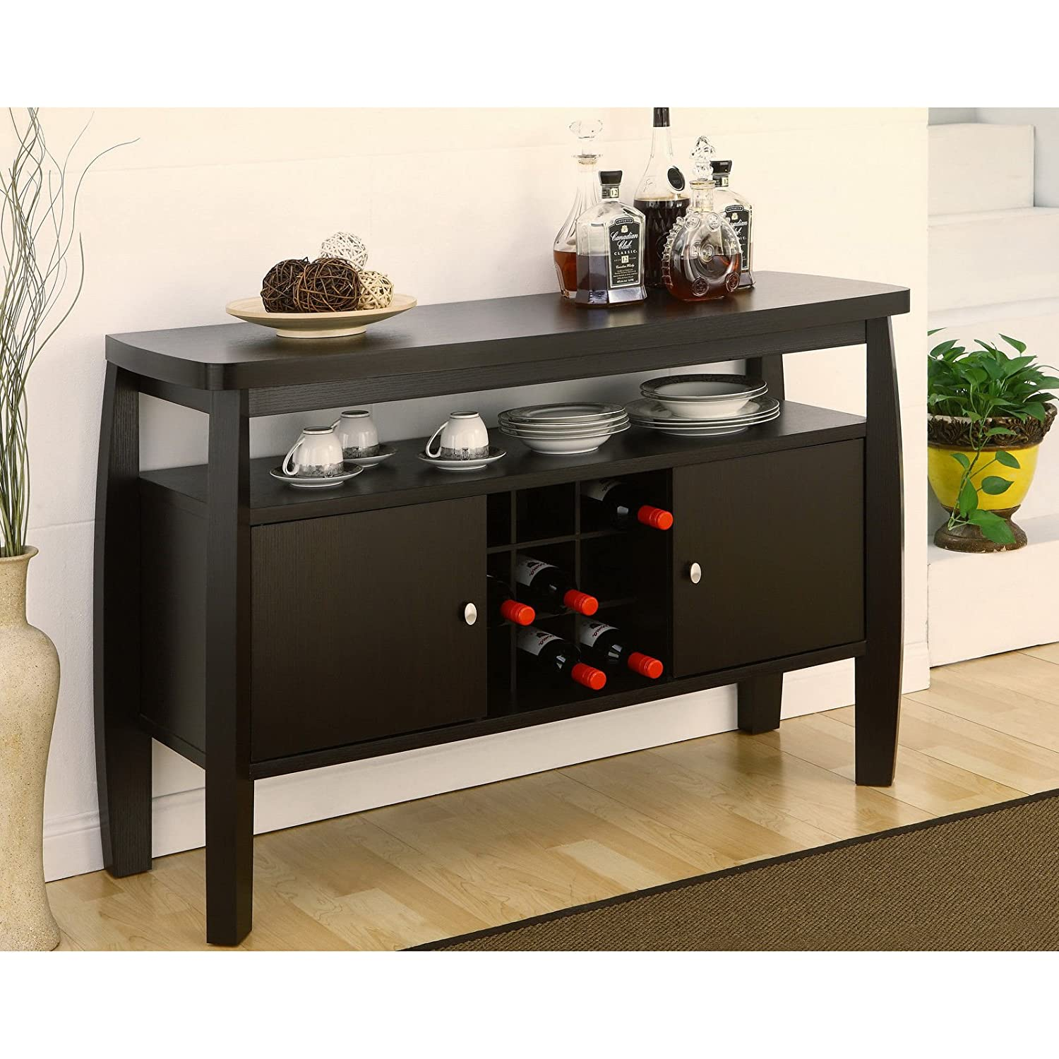 - Amazon.com - Furniture Of America Zarina Dark Espresso Buffet Table -