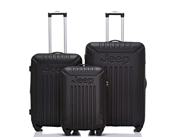 e10b01026a Jeep Luggage Missouri 2019 Hard Case 3 Piece Suitcase Travel Trolley  Tourist Bag with Spinner Wheels