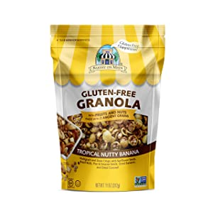 Bakery On Main Gluten-Free, Non GMO Granola, Tropical Nutty Banana, 11 Ounce (Pack of 6)