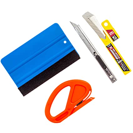 Gold Label Detailing Vinyl Wrapping Accessory Kit   Plastic Squeegee with  Felt Scratch Protector   Vinyl Slicing Tool   Retractable 30 Degree Blade