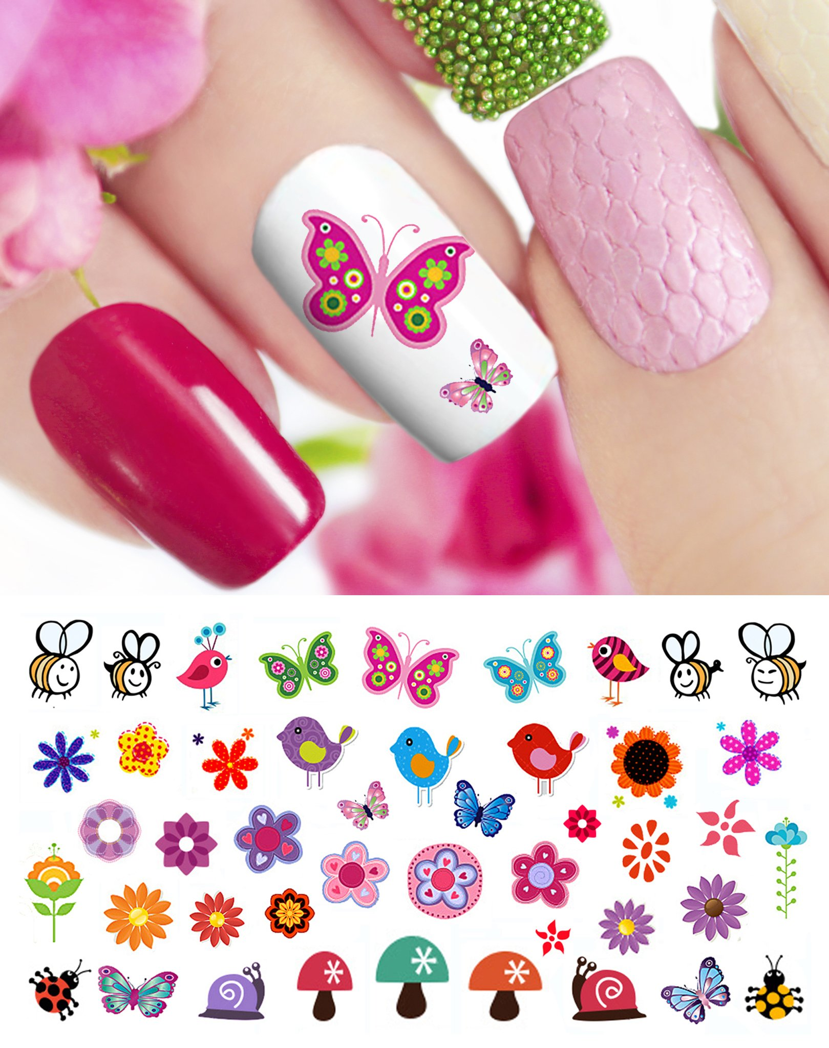 Amazon.com: Owl Assortment Nail Art Waterslide Decals Set #1 - Salon ...