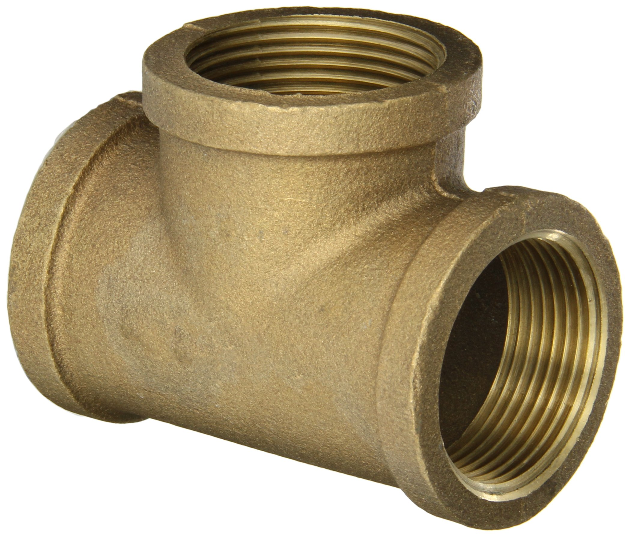 Reducing Tee Anderson Metals 38106 Red Brass Pipe Fitting 1 x 1 x 1//2 Female Pipe 1 x 1 x 1//2 Female Pipe 38106-161608