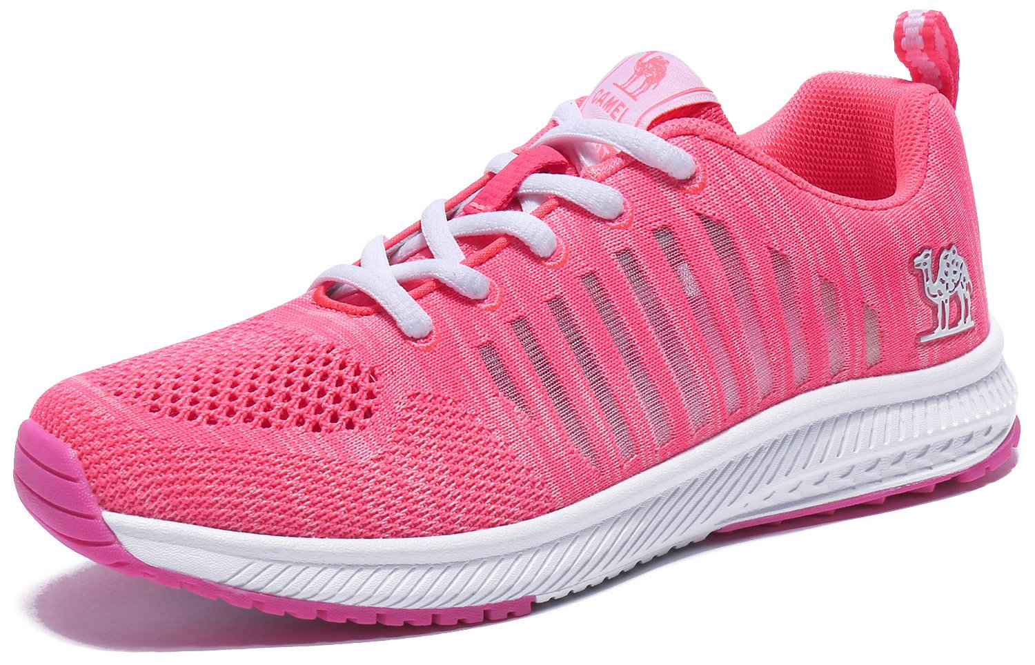 Camel Women Running Shoes Lightweight Breathable Sneakers Mesh Tennis Shoes M for Sport B07B9X92HJ 5.5 M Shoes US|Pink abd19c