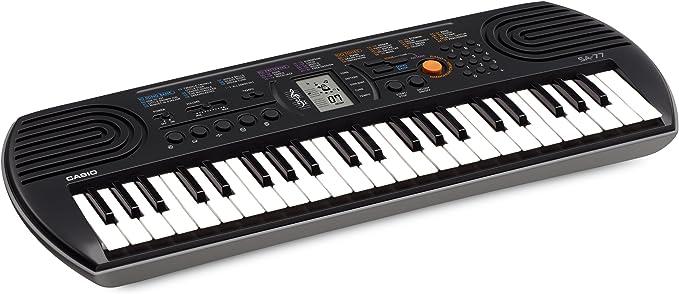 Casio SA-77 - Teclado electrónico (plástico, 2 altavoces integrados), negro/gris: Amazon.es: Instrumentos musicales