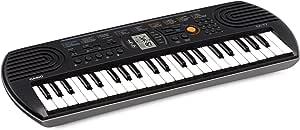 Casio 44 Note Mini Key Musical Keyboard, Black/Grey, (SA77)