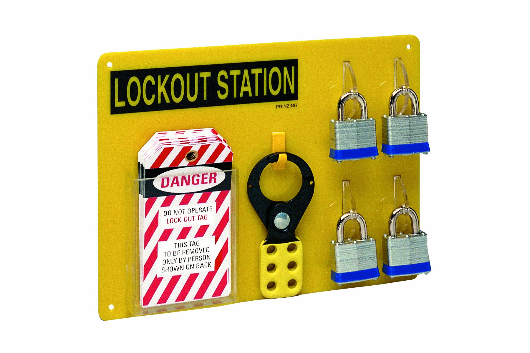 Brady LC203G Prinzing Lockout Station Equipped (1 Station)