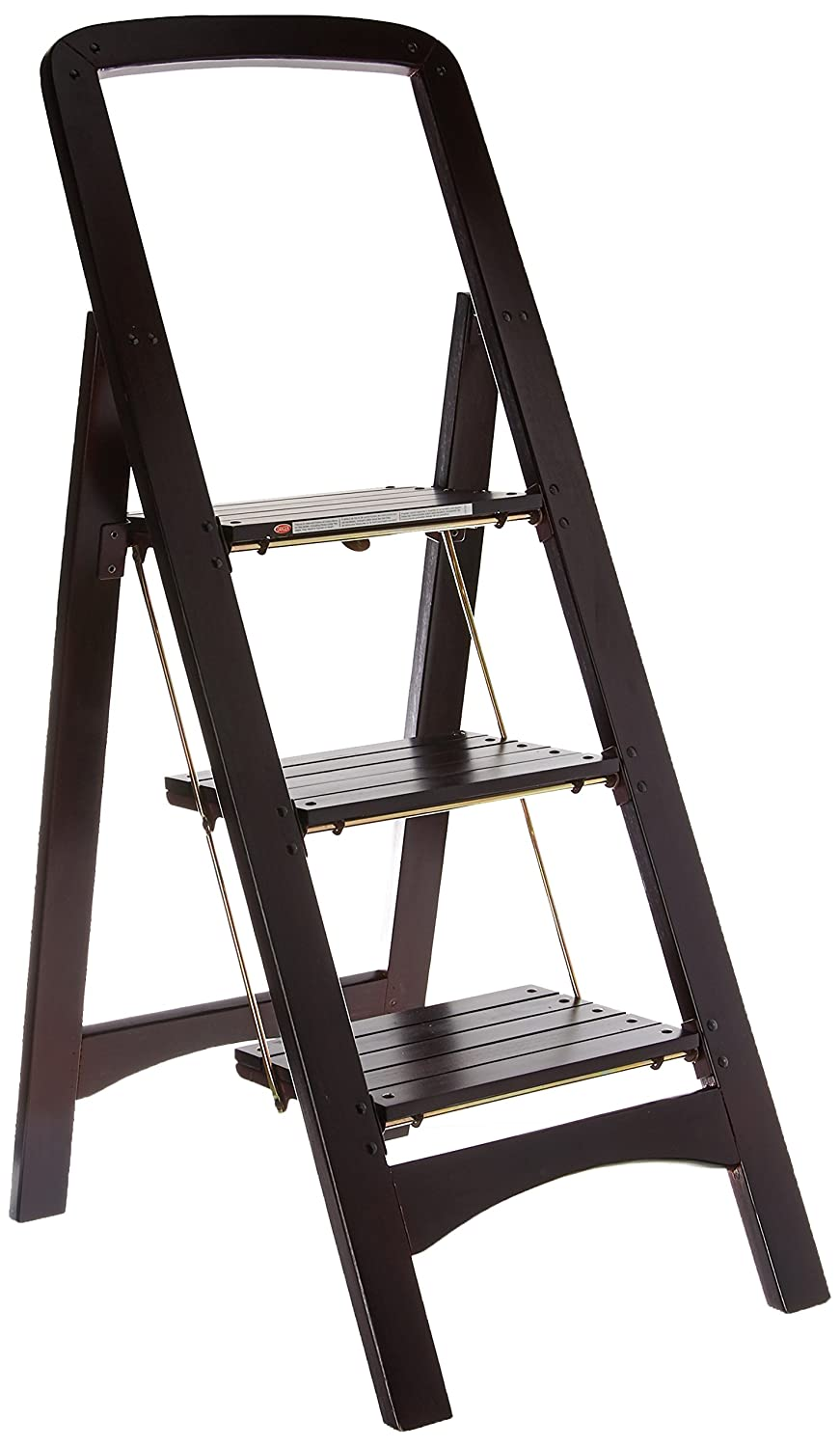 Cosco Three Step Rockford Wood Step Stool, Mahogany Dorel Home Furnishings 11255MGY1