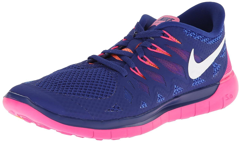 Amazon.com | Nike Women's Free 5.0 Dp Ryl Bl/White/Hypr Pnk/Brght Running  Shoe 6 Women US | Road Running