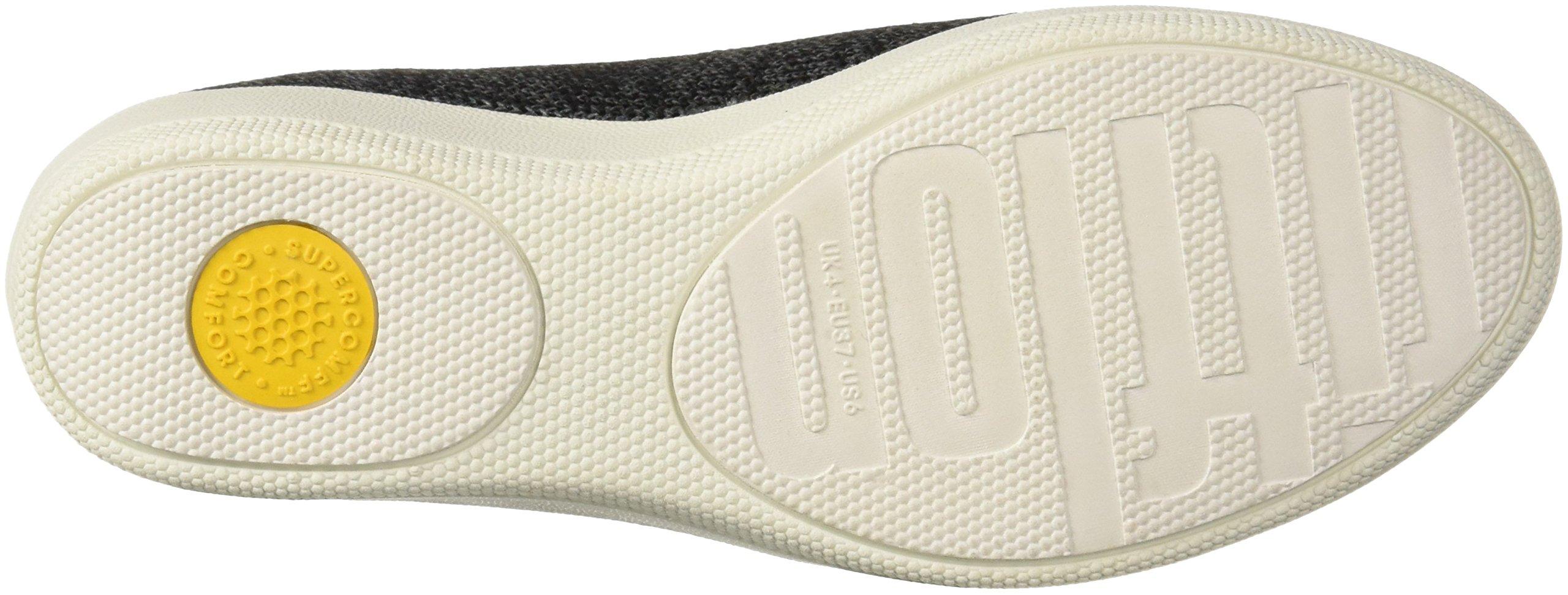 FitFlop Women's Superskate Uberknit Loafers, Black/Soft Grey, 8.5 M US by FitFlop (Image #3)
