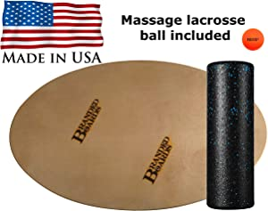 Branded Boards Made in USA Elliptical Surfing Balance Board. Great Home Office Exercise Workout Balance Board! Awesome Surfing & Snowboard Trainer and Physical Therapy Balance Board.