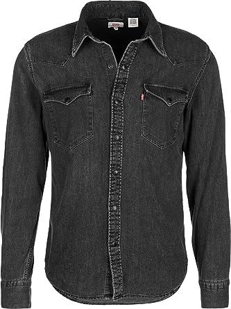 Levis ® Barstow Western Camisa de Manga Larga Black Worn In T2: Amazon.es: Ropa y accesorios