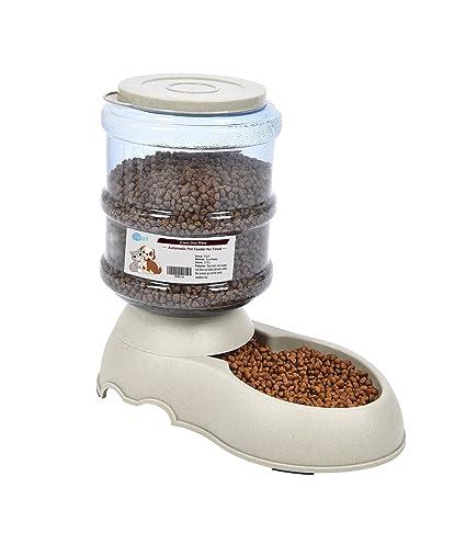 Comederos Automáticos de Alimentos/Fuente de Agua Automática para Perros Gatos y Mascotas-3.75L x 2 Piezas- Cuenco Accesorio Dispensador para Mascotas (con ...