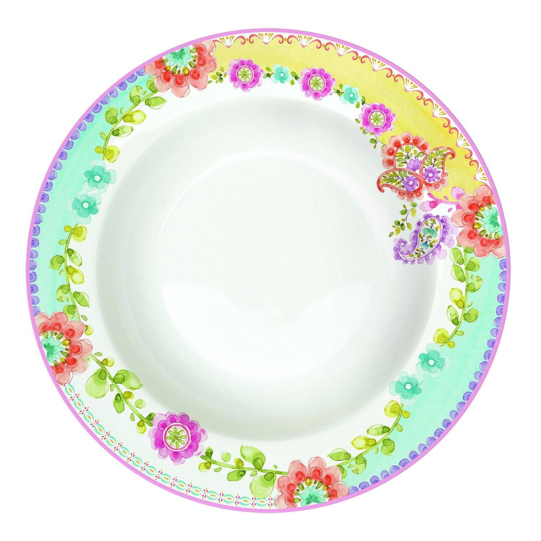 R2S 943GIPS Gipsy Assiette Creuse 21, 5 cm Porcelaine Multicolore 21.5x21.5x5.5 cm Artmadis