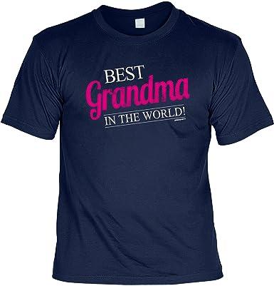 Modisches Damen Fun-T-Shirt als Geschenk für Grandma Goodman Design® Gr:  Farbe: navy-blau: Amazon.de: Bekleidung