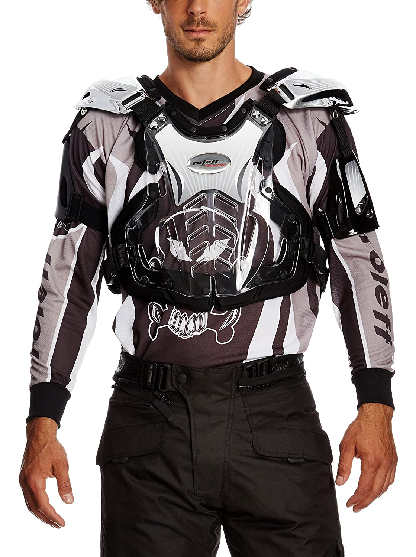 Roleff Racewear Peto Motocross, Plateado Brillante, L Roleff Römer GmbH 8704 8704-8705_silber-L