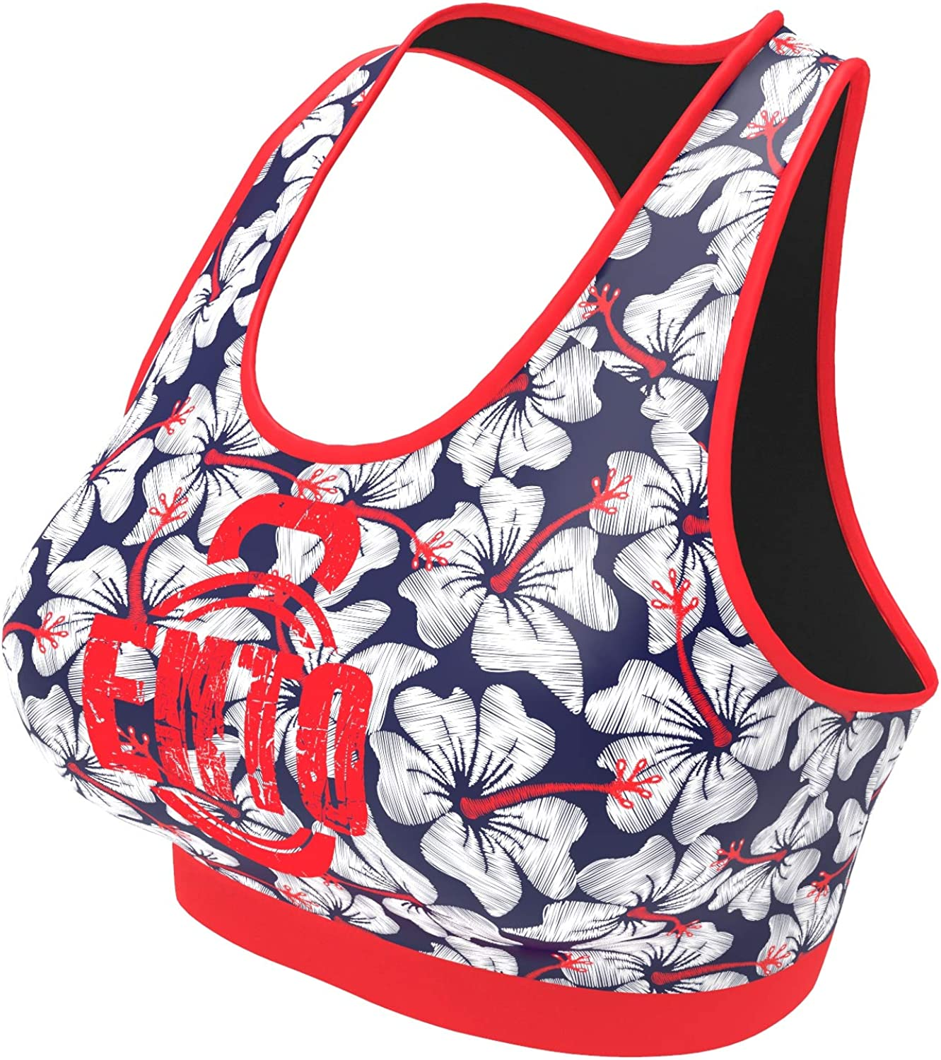 Womens Workout Outfits 2 Piece Embroided Flowers Gym Fitness Yoga Athletic Clothing Sets Activewear
