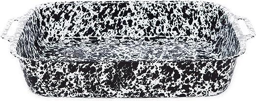 Grey /& White Marble Crow Canyon Home Enamelware Lasagna Pan 12.5 x 9