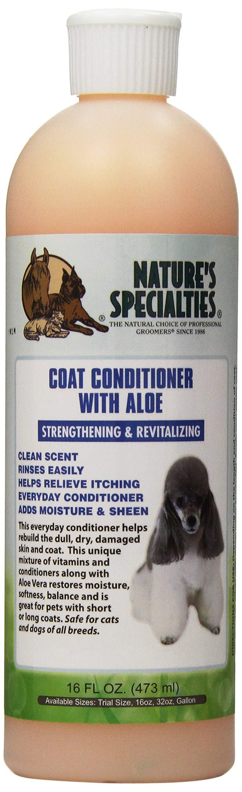 Nature's Specialties Coat Conditioner for Pets, 16-Ounce