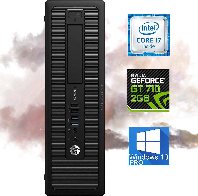 HP EliteDesk 800 G1 Small Form Desktop Computer - Intel i7-4770, 32GB Ram, 1TB SSD + 500GB HDD, WI-FI, NVIDIA GT 710 HDMI 4K Support, VGA - Windows 10 Pro (Renewed)