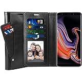 SUPTMAX Galaxy Note 9 ケース Samsung Galaxy Note 9 手帳型ケース ギャラクシー Note 9 ケース 高級レザー マグネットデザイン スタンド機能 カード収納可能 耐摩擦 SC-01L SCV40 (Galaxy Note9, ブラック)