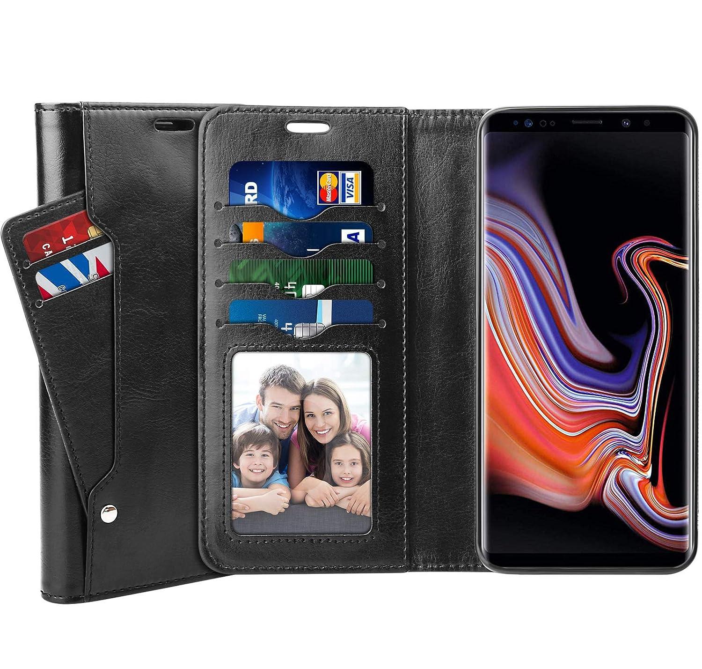Galaxy S9 Plus Case, SUPTMAX Samsung Galaxy S9 Plus Leather Wallet Case [Kickstand Function] [6 Credit Card Slots] Flip Case Cover for Samsung S9 Plus(Aqua, S9 Plus)