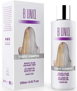 Purple Shampoo by B Uniq  Silver Toning Shampoo for Silver and Violet Tones  - No 9cfb58b94fc9
