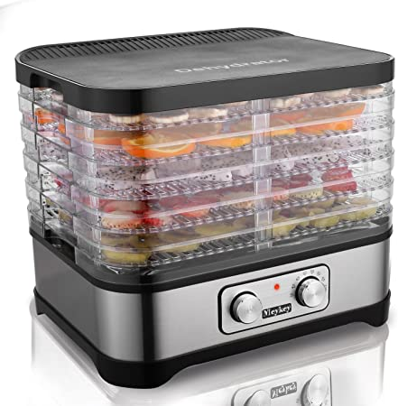 DISIDRATATORE per Cibo meykey con regolatore di temperatura frutta-carne asciugatrice 5 Vassoio