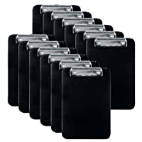 Officemate Memo Size Clipboard, Black, Pack of 12 (83012)